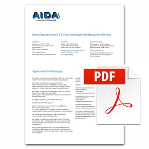Erstinformation nach § 11 Versicherungsvermittlungsverordnung als PDF herunterladen
